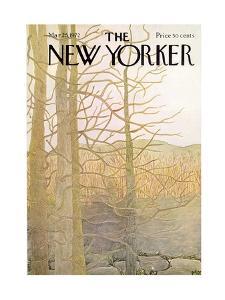 The New Yorker Cover - March 25, 1972 by Ilonka Karasz