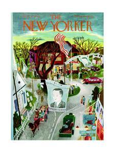 The New Yorker Cover - November 2, 1946 by Ilonka Karasz