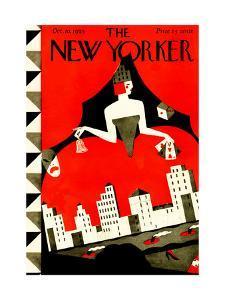 The New Yorker Cover - October 10, 1925 by Ilonka Karasz