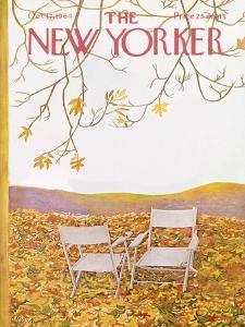 The New Yorker Cover - October 17, 1964 by Ilonka Karasz