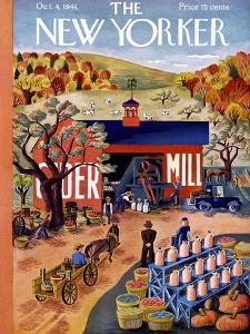 The New Yorker Cover - October 4, 1941 by Ilonka Karasz