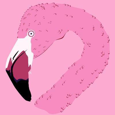 Ilustración De Un Flamingo- ali_viana_te-Art Print
