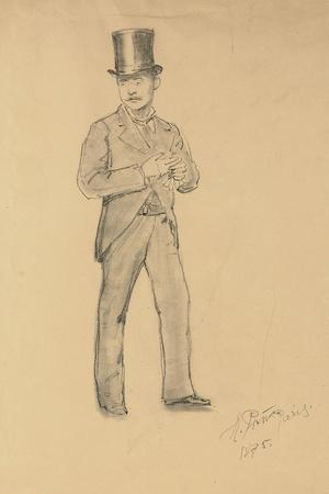 A Study for 'A Parisian Cafe' (1875): Gentleman in a Top Hat, 1875
