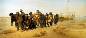 Die Wolgatreidler, 1870/73 by Ilya Efimovich Repin