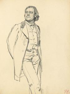 Figure of a Standing Man, C. 1872-1875 by Ilya Efimovich Repin