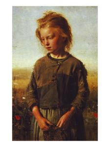 Fisher Girl, 1874 by Ilya Efimovich Repin