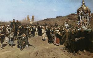 Kreuzprozession Im Gouvernement Kursk, 1880/1883 by Ilya Efimovich Repin