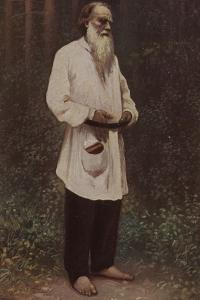 Leo Tolstoy (1828-1910), Russian Novelist, Short Story Writer and Playwright, 1901 by Ilya Efimovich Repin