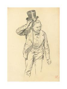 Man Tipping His Hat, C. 1872-1875 by Ilya Efimovich Repin