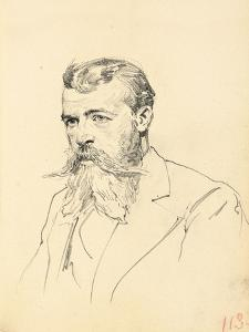 Portrait of a Man with Moustache and Beard, C. 1872-1875 by Ilya Efimovich Repin