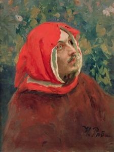 Portrait of Dante Alighieri (1265-1321) by Ilya Efimovich Repin