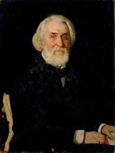Portrait of Ivan S. Turgenev (1818-83), 1879 by Ilya Efimovich Repin