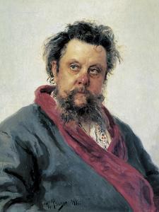Portrait of Modest Mussorgsky by Ilya Efimovich Repin