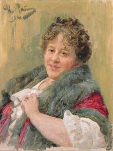 Portrait of Tatiana Olga Shchepkina-Kupernik (1874-1952) 1914 by Ilya Efimovich Repin