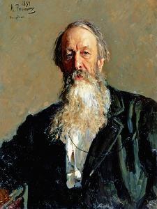 Portrait of Vladimir Stasov, 1883 by Ilya Efimovich Repin