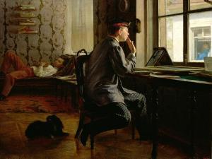 Preparing for Examinations, 1864 by Ilya Efimovich Repin