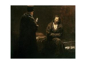 Refusal of Confession, 1879-85 by Ilya Efimovich Repin