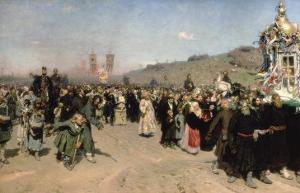Religious Procession in the Province of Kursk, 1880-83 by Ilya Efimovich Repin