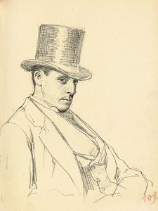 Seated Man with Top Hat, C. 1872-1875 by Ilya Efimovich Repin
