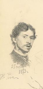 Self-Portrait, 1873 by Ilya Efimovich Repin