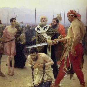 St. Nicholas Delivers Three Unjustly Condemned Men from Death, 1888 by Ilya Efimovich Repin