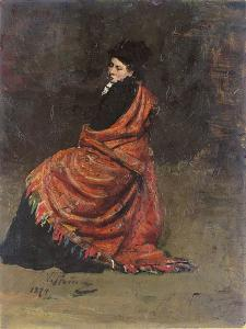Study for 'A Parisian Cafe' (1875): a Woman Seated, 1874 by Ilya Efimovich Repin