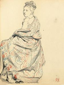Study for 'A Parisian Cafe': Study of Dress for a Seated Woman, C. 1872-1875 by Ilya Efimovich Repin
