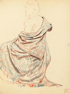 Study for 'A Parisian Cafe': Study of Dress for Seated Woman, C. 1872-1875 by Ilya Efimovich Repin