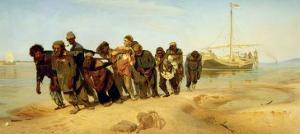The Boatmen on the Volga, 1870-73 by Ilya Efimovich Repin