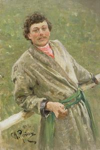 The Byelorussian, Portrait of the Peasant S. Shavrov, 1892 by Ilya Efimovich Repin