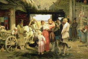 The Leave-Taking of the New Recruit, 1879 by Ilya Efimovich Repin
