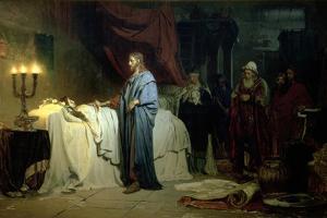 The Raising of Jairus's Daughter, 1871 by Ilya Efimovich Repin