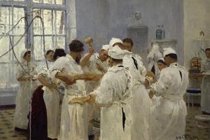 The Surgeon J.W.Pavlov in the Operating Theatre, 1888 by Ilya Efimovich Repin