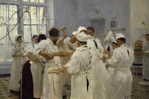 The Surgeon J.W.Pavlov in the Operating Theatre, 1888 by Ilya Efimovich Repin