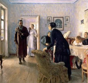 Unexpected, 1884-88 by Ilya Efimovich Repin
