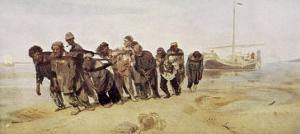 Volga Bargemen by Ilya Efimovich Repin