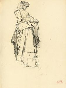 Woman in Dress from Behind, C. 1872-1875 by Ilya Efimovich Repin