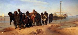 Barge Haulers on the Volga, 1872-1873 by Ilya Yefimovich Repin