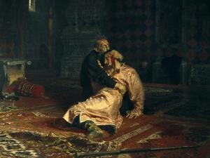 Ivan the Terrible and His Son Ivan on Nov by Ilya Yefimovich Repin