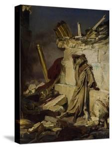 Jeremiah Lamenting the Destruction of Jerusalem, 1870 by Ilya Yefimovich Repin