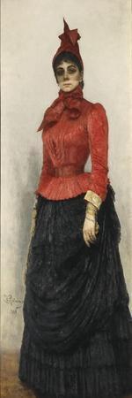 Portrait of Baroness Varvara Ikskul Von Hildenbandt (1850-192), 1889