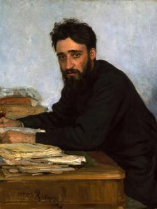 Portrait of the Author Vsevolod M. Garshin (1855-188), 1880S by Ilya Yefimovich Repin