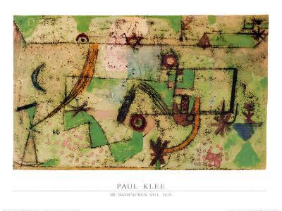 Im Bachschen Stil, 1919-Paul Klee-Art Print