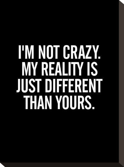 Im Not Crazy-Brett Wilson-Stretched Canvas Print