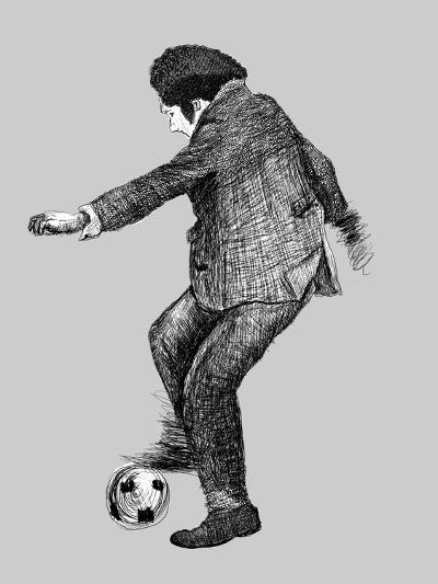 Image of a Disabled Person Who Plays Soccer-Dmitriip-Art Print