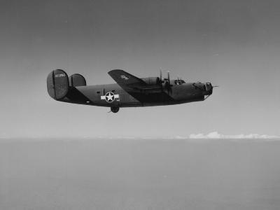 Image of a Wwii U.S. Military Aircraft in Flight Taken from the Side and Slightly Below--Photographic Print