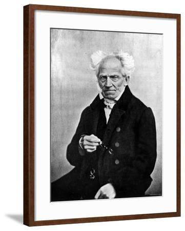Image of Arthur Schopenhauer, German Philosopher--Framed Premium Photographic Print