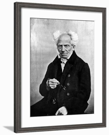 Image of Arthur Schopenhauer, German Philosopher--Framed Premium Photographic Print