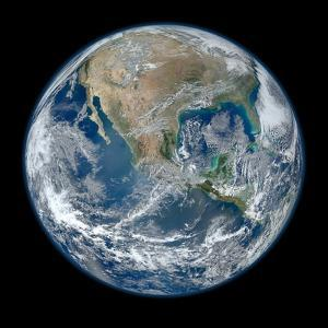 Image of the Earth Taken from NASA's Earth Observing Satellite, Suomi Npp