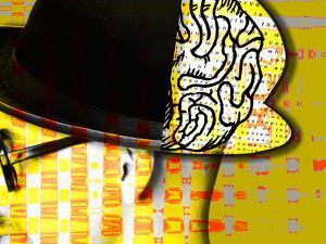 Image of Thinking Man's Brain Through Bowler Hat